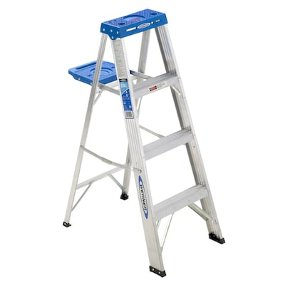 Marvelous 300 4 Ft Aluminum Type 1 250 Lbs Capacity Step Ladder Gmtry Best Dining Table And Chair Ideas Images Gmtryco