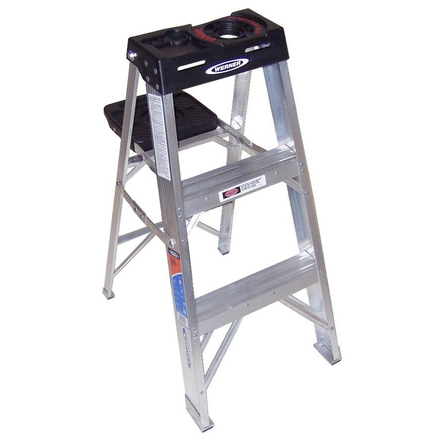 Werner 3-ft Aluminum Type 1A - 300 lbs. Step Ladder