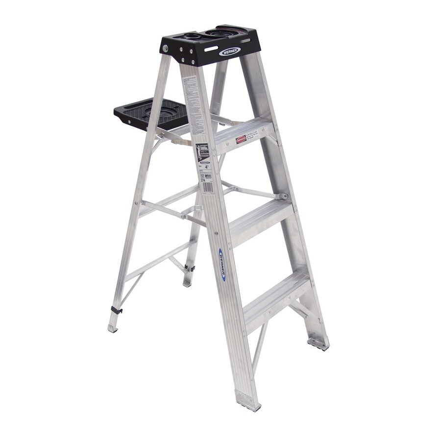 Werner 4-ft Aluminum 300-lb Type IA Step Ladder