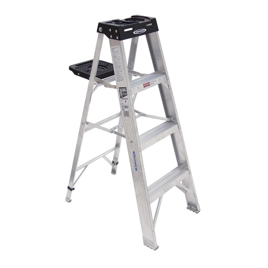 Werner 4-ft Aluminum Type 1A - 300 lbs. Step Ladder
