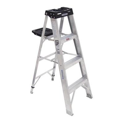 Terrific Werner 370 4 Ft Aluminum Type 1A 300 Lbs Capacity Step Ibusinesslaw Wood Chair Design Ideas Ibusinesslaworg
