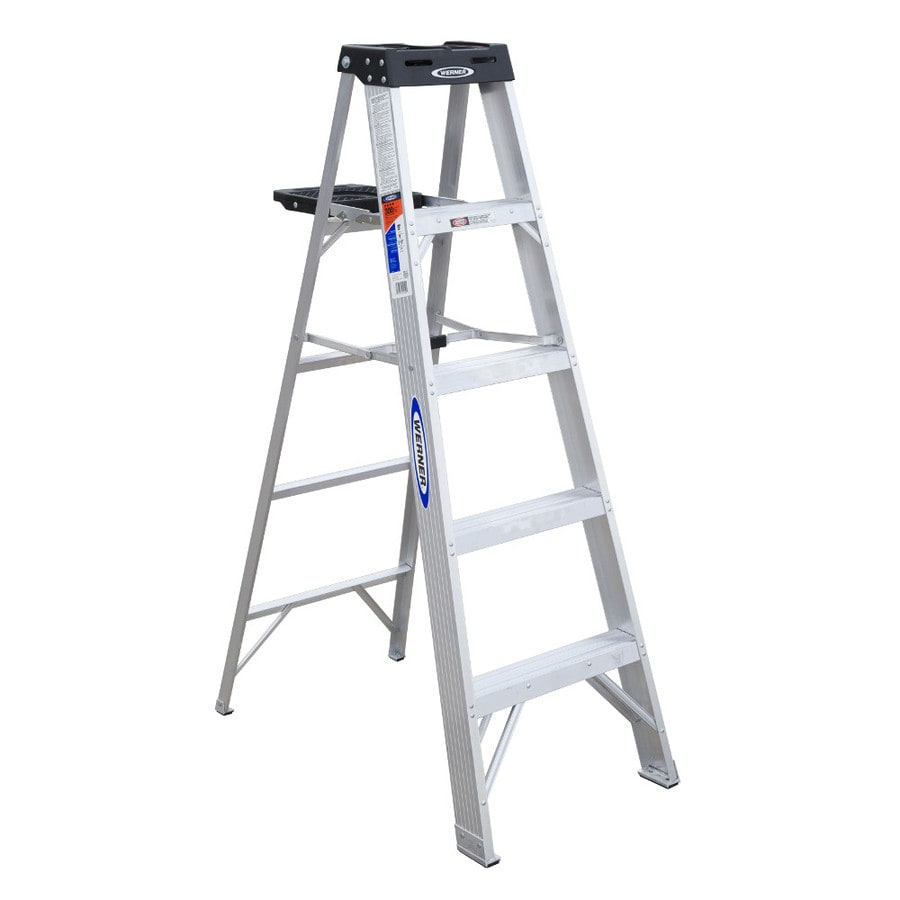 Shop Werner 5 Ft Aluminum Type 1a 300 Lbs Step Ladder