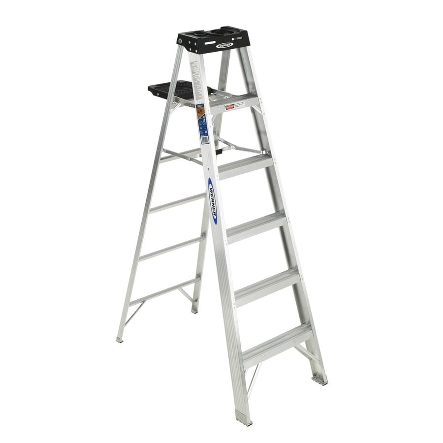 Shop Werner 6 Ft Aluminum Type 1a 300 Lbs Step Ladder