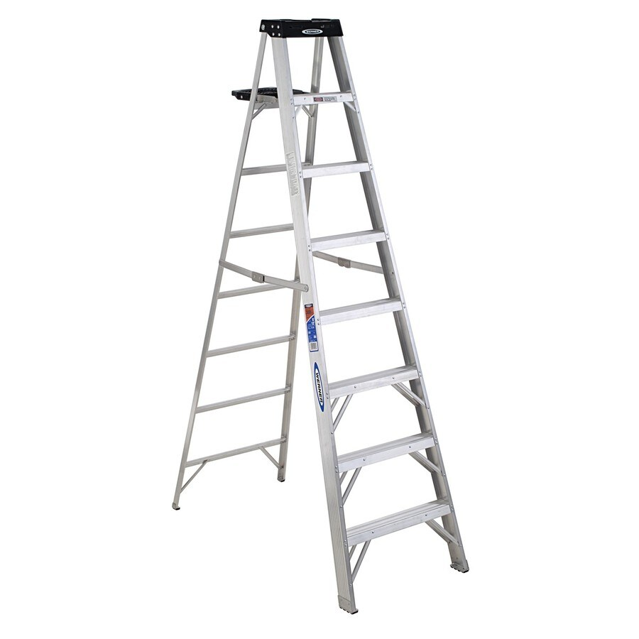 Shop Werner 8 Ft Aluminum Type 1a 300 Lbs Step Ladder