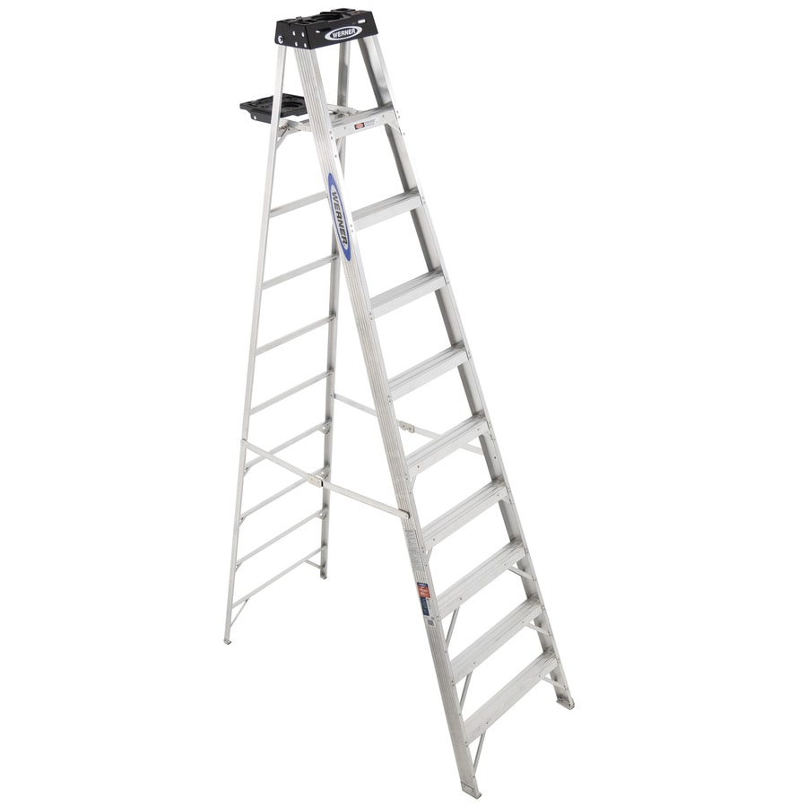 Werner 10-ft Aluminum 300-lb Type IA Step Ladder
