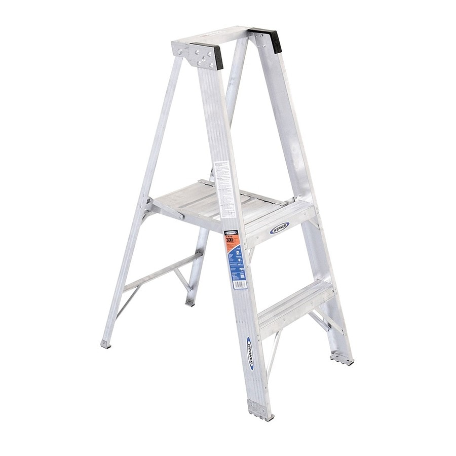 Werner 2-ft Aluminum 300-lb Type IA Platform Ladder