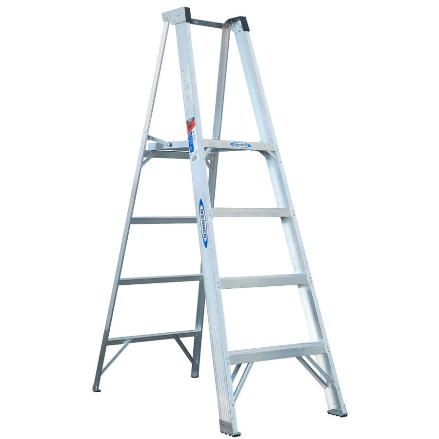 Werner 4-ft Aluminum 300-lb Type IA Platform Ladder
