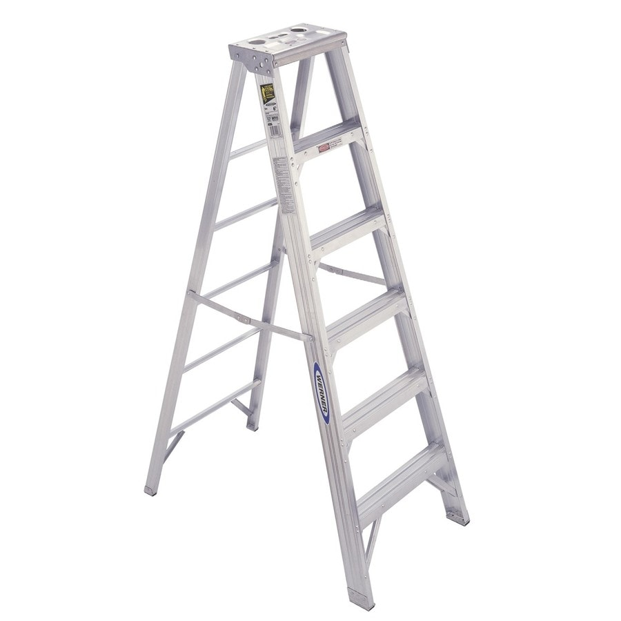 Werner 6-ft Aluminum 375-lb Type IAA Step Ladder