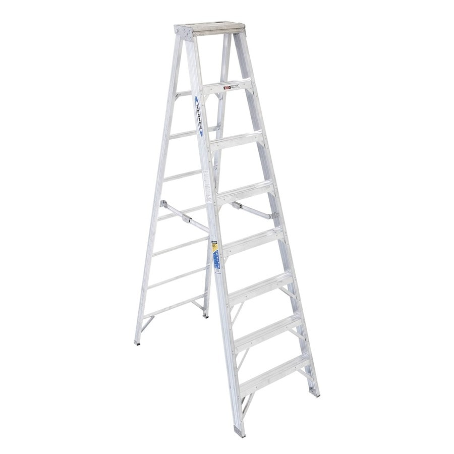 Werner 8-ft Aluminum 375-lb Type IAA Step Ladder