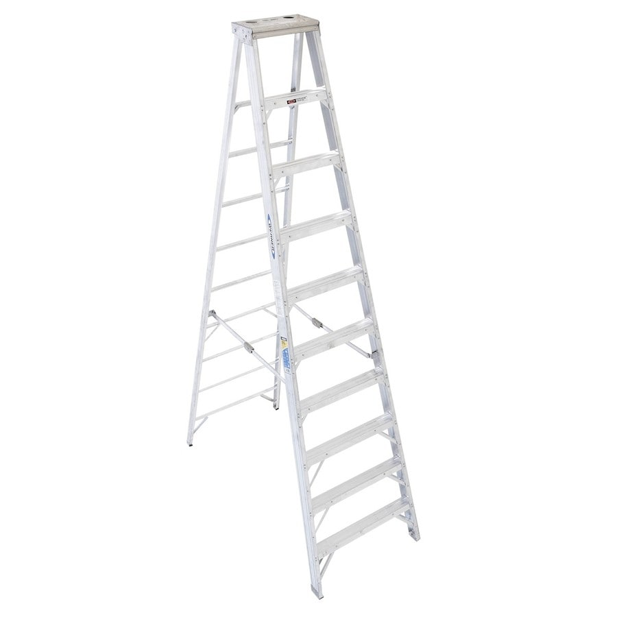 Werner 10-ft Aluminum 375-lb Type IAA Step Ladder