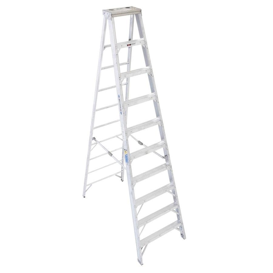 Werner 10-ft Aluminum 375-lb Type Iaa Step Ladder
