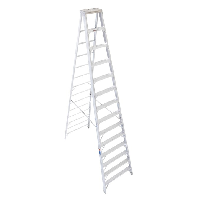 Werner 410 14 Ft Aluminum Type 1a 300 Lbs Capacity Step Ladder In The Step Ladders Department At Lowes Com