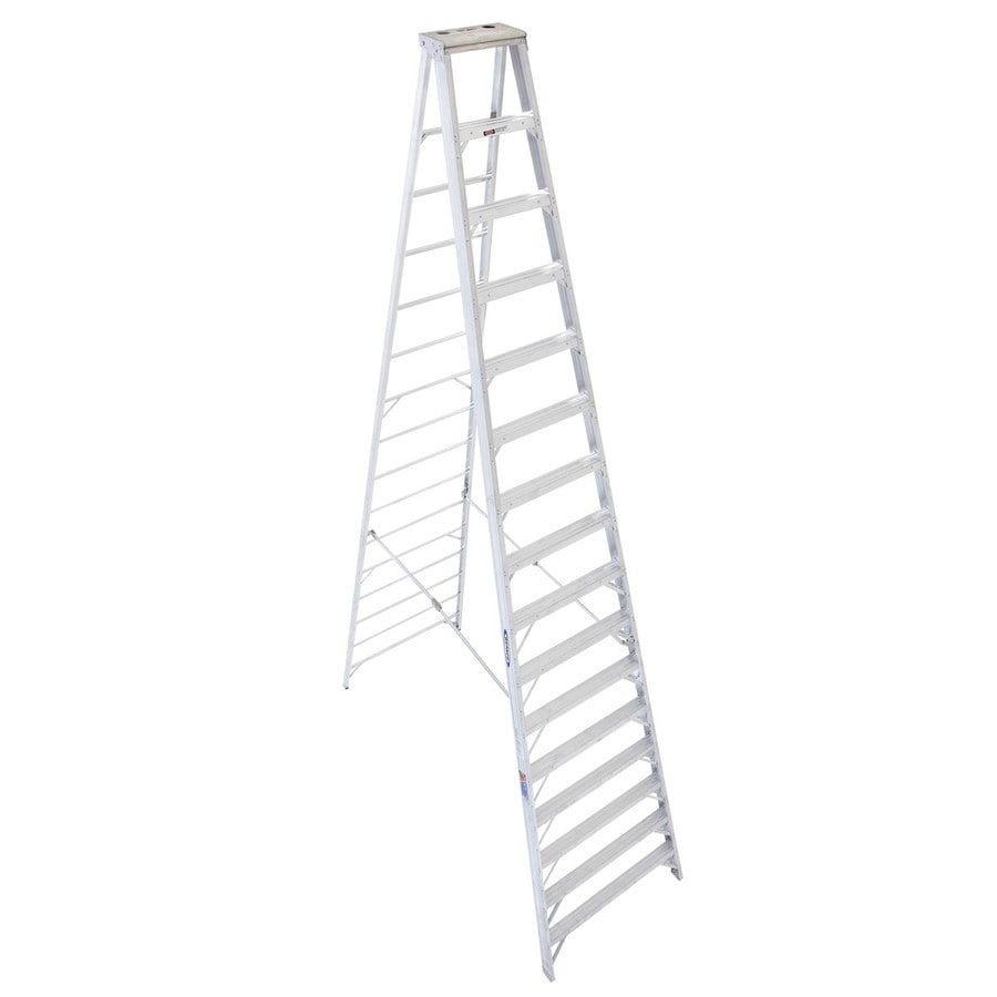 Shop Werner 16ft Aluminum 300lb Type IA Step Ladder at Lowescom