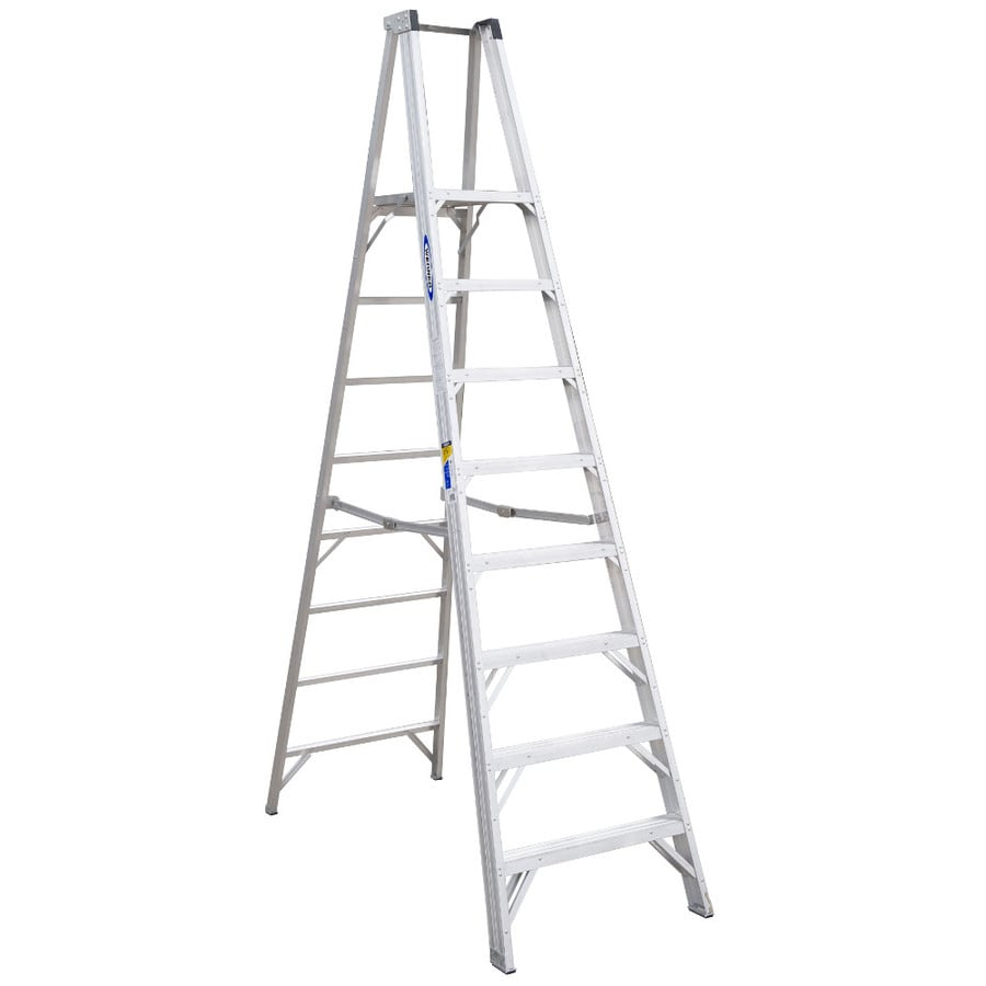 Werner 8-ft Aluminum 300-lb Type IA Platform Ladder