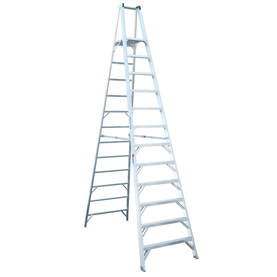 Werner 12-ft Aluminum 300-lb Type IA Platform Ladder