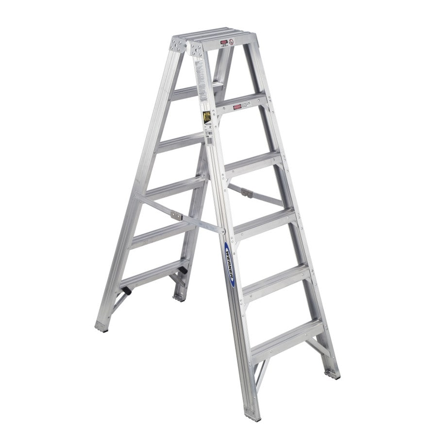 Werner 6-ft Aluminum Type 1AA - 375 lbs. Twin Step Ladder