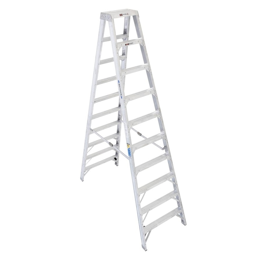 Werner 10-ft Aluminum 375-lb Type IAA Twin-Step Ladder