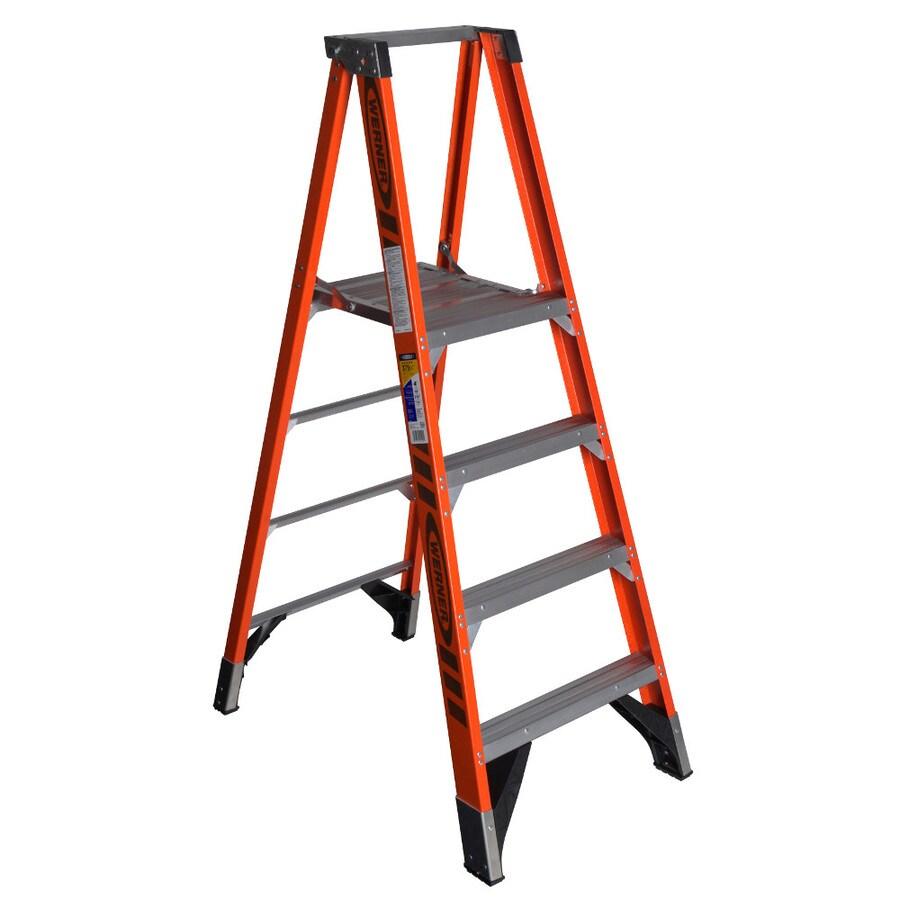 Werner 4-ft Fiberglass 375-lb Type IAA Platform Ladder