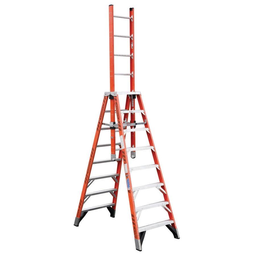 Werner 8-ft Fiberglass 300-lb Type IA Trestle Ladder