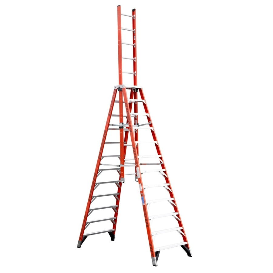 Werner 12-ft Fiberglass 300-lb Type IA Trestle Ladder