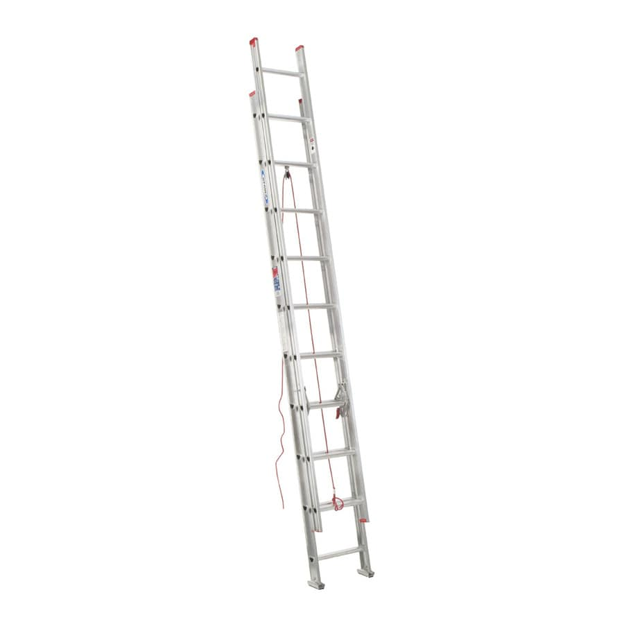 Werner 24-ft Aluminum 200-lb Type III Extension Ladder