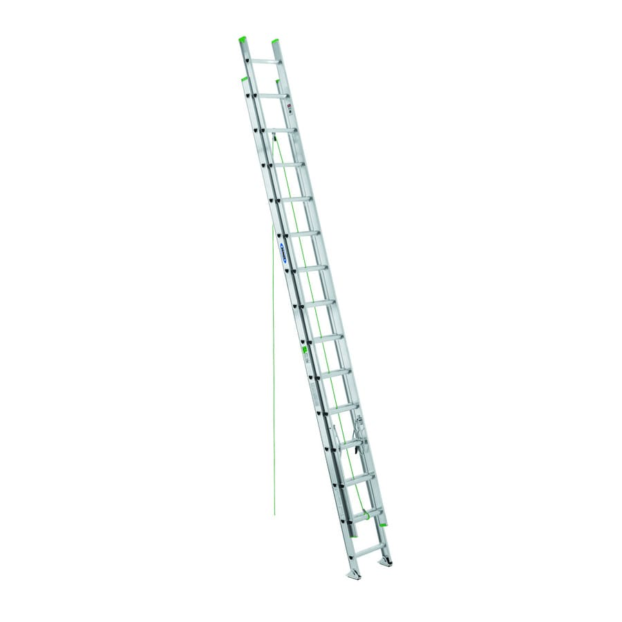 Shop Werner 28 Ft Aluminum 225 Lb Type Ii Extension Ladder