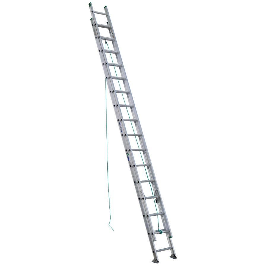 Werner 32-ft Aluminum 225-lb Type II Extension Ladder