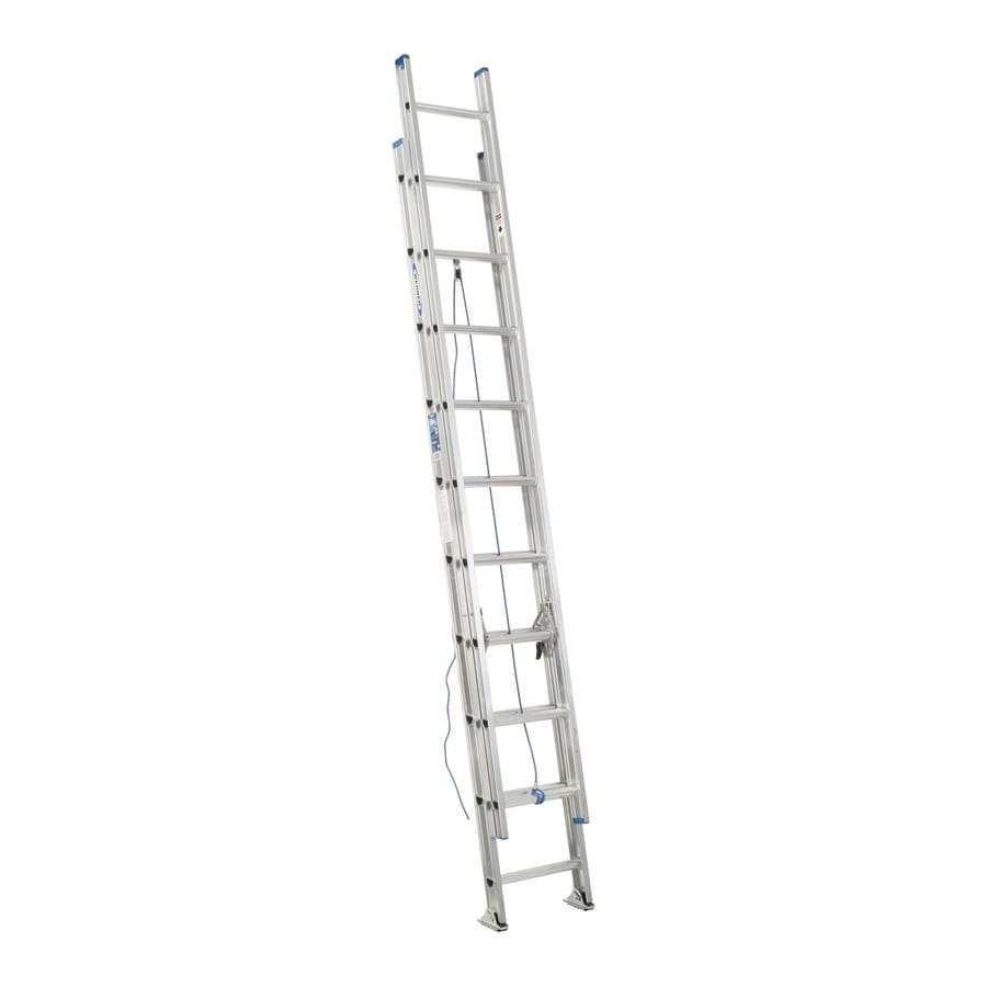 Werner 20-ft Aluminum 250-lb Type I Extension Ladder
