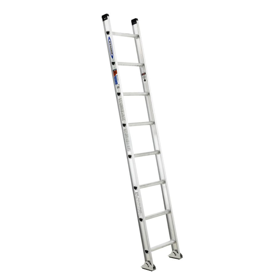 Werner 8-ft Aluminum Type 1A - 300 lbs. Straight Ladder