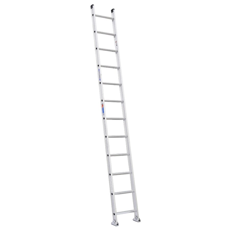 Werner 12-ft Aluminum 300-lb Type IA Straight Ladder