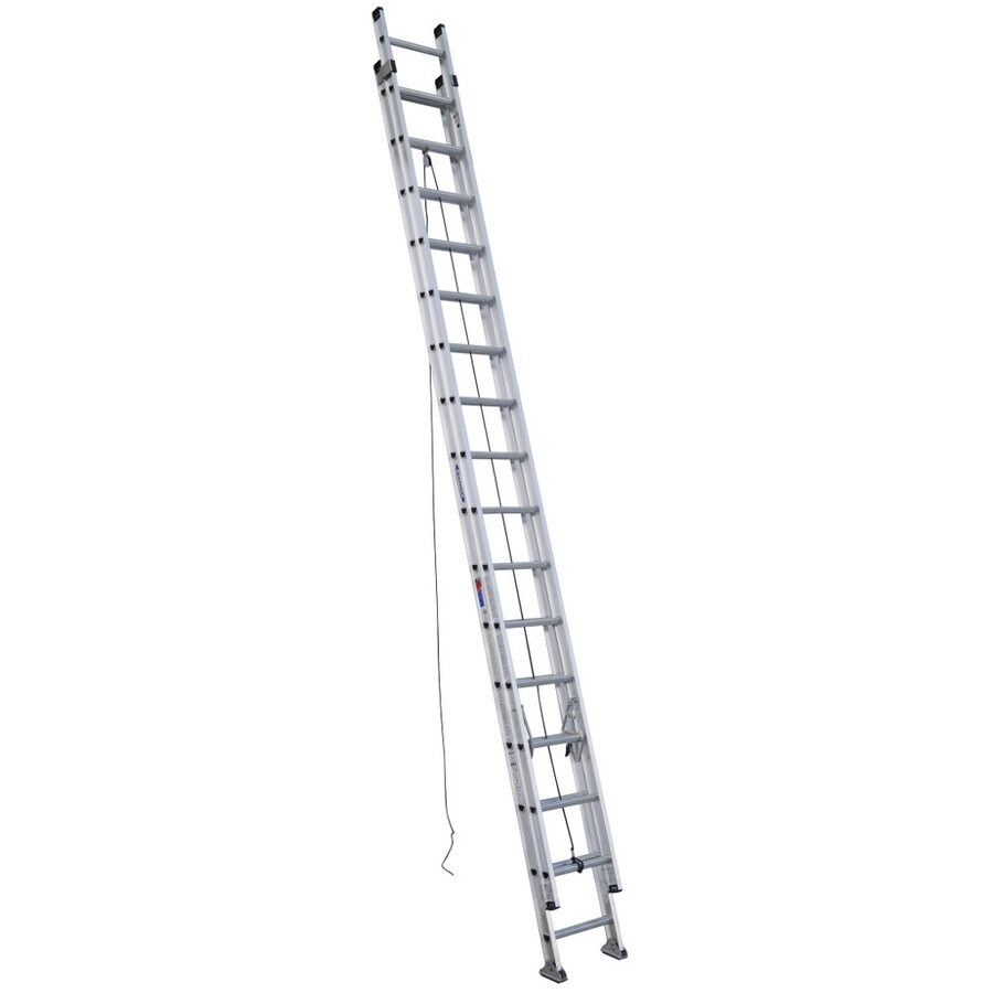 Shop Werner 32 Ft Aluminum 300 Lb Type Ia Extension Ladder