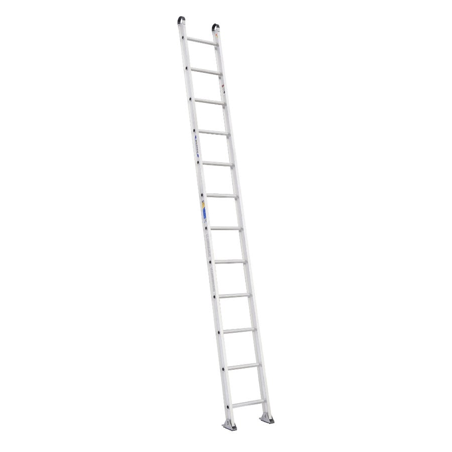 Shop Werner 12 Ft Aluminum 375 Lb Type Iaa Straight Ladder