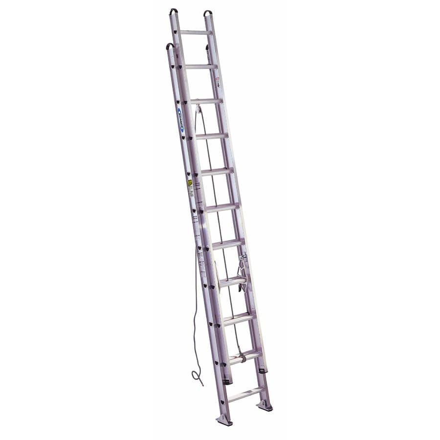 Werner 20-ft Aluminum 375-lb Type IAA Extension Ladder