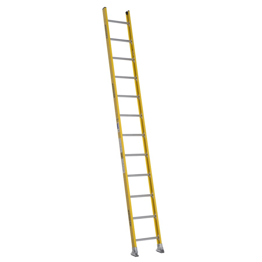 Werner 12-ft Fiberglass 375-lb Type IAA Straight Ladder