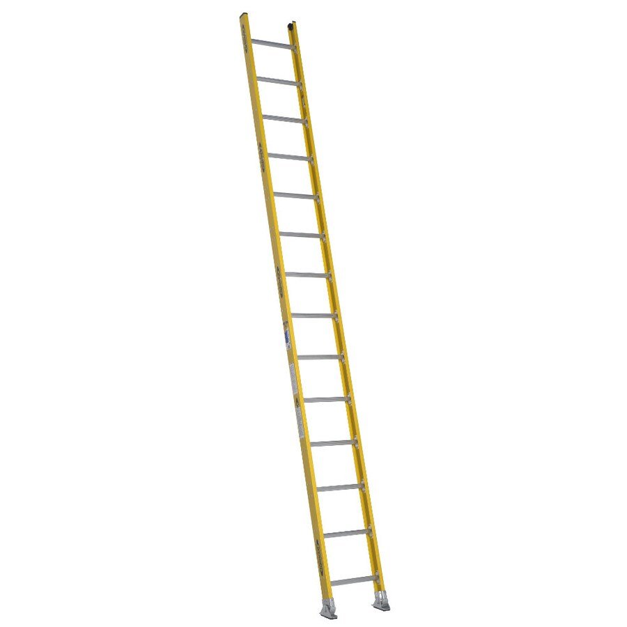 Werner 14-ft Fiberglass 375-lb Type IAA Straight Ladder