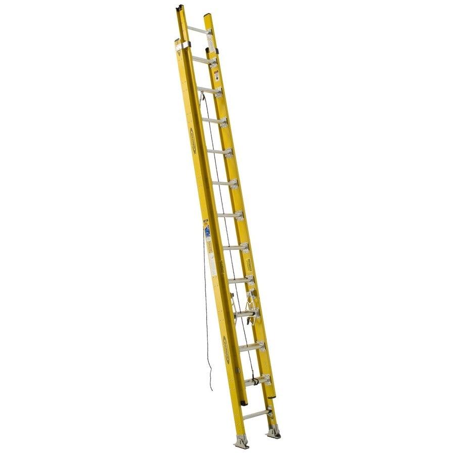 Werner 24-ft Fiberglass 375-lb Type Iaa Extension Ladder
