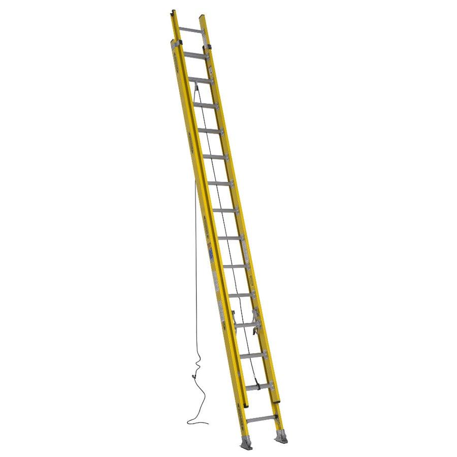 Werner 28-ft Fiberglass 375-lb Type IAA Extension Ladder