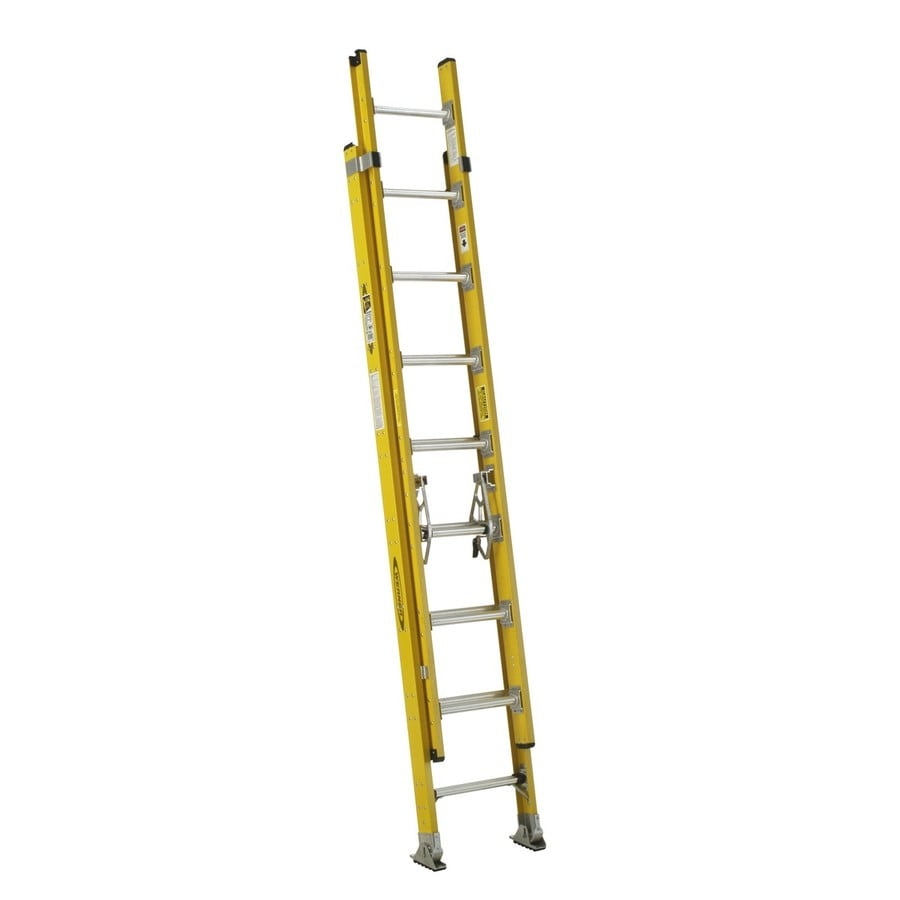 Werner 16-ft Fiberglass 375-lb Type IAA Extension Ladder