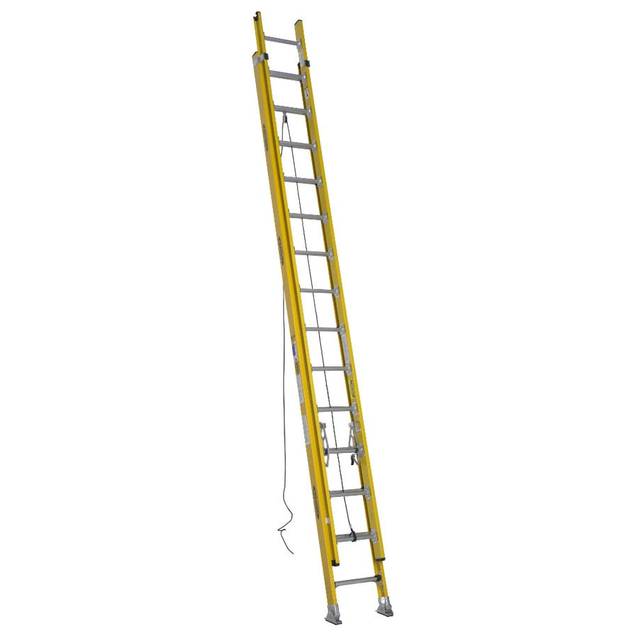 Werner 28-ft Fiberglass 375-lb Type IAA Extension Ladder