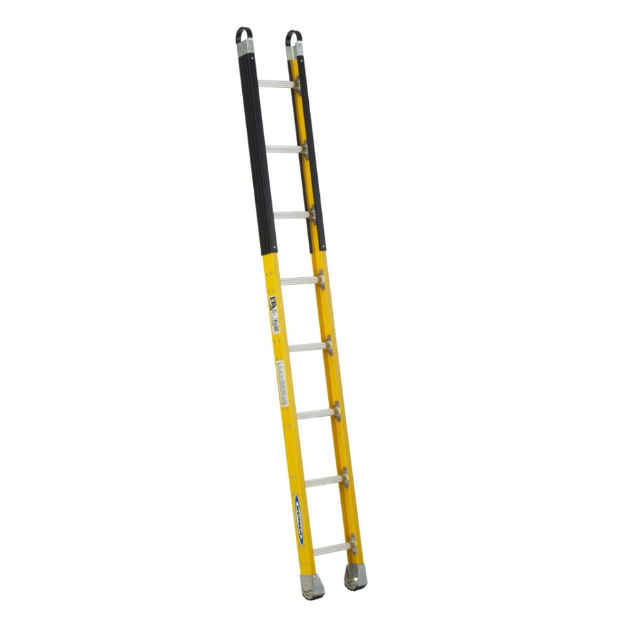 Werner 8-ft Fiberglass 375-lb Type IAA Manhole Ladder