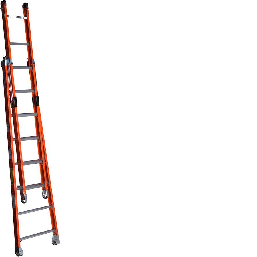 Werner 8-ft Fiberglass 375-lb Type IAA Combination Ladder