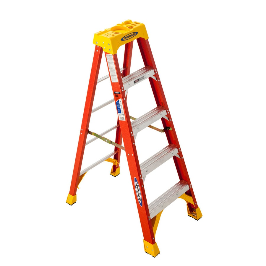 Shop Werner 5 Ft Fiberglass Type 1a 300 Lbs Step Ladder