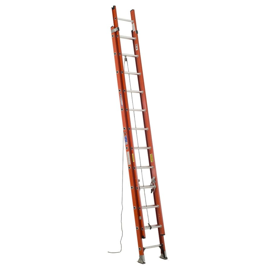 Werner 24-ft Fiberglass 300-lb Type IA Extension Ladder