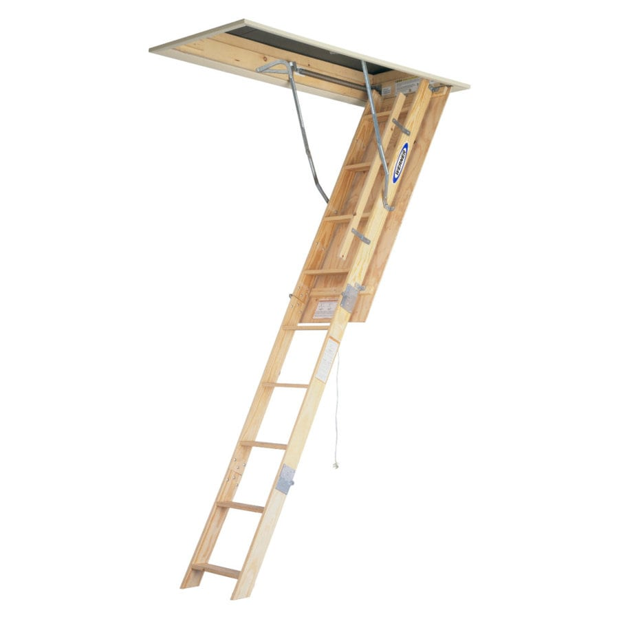 werner w 7ft to 875ft wood folding attic ladder
