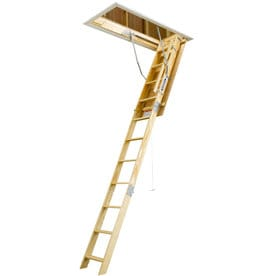 werner w 875ft to 1033ft wood folding attic ladder