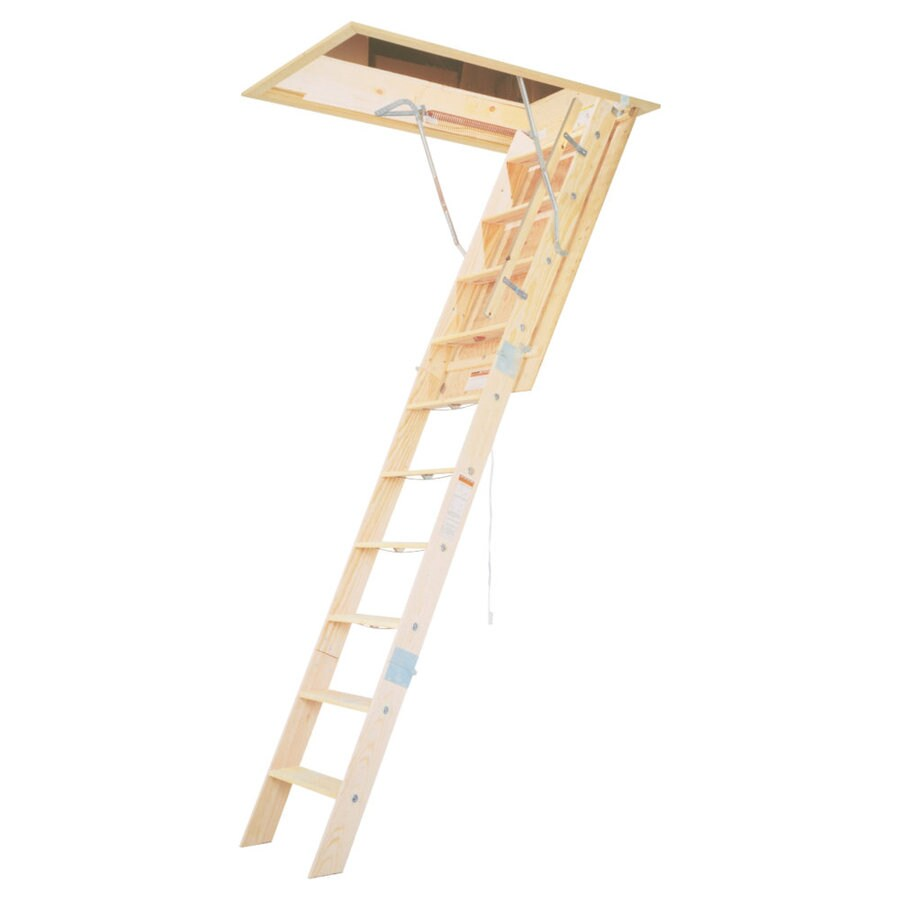 Werner 7-ft to 8.75-ft Type IAA Wood Attic Ladder