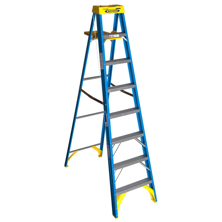 Shop Werner 8 Ft Fiberglass Type 1 250 Lbs Step Ladder