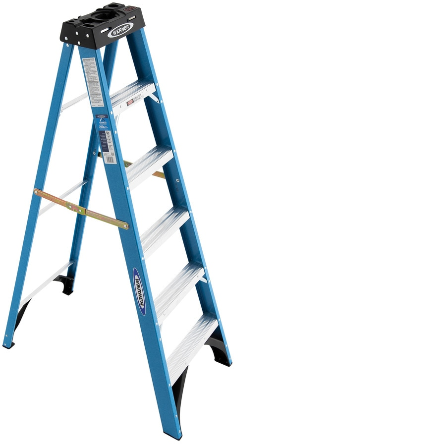 Werner 6-ft Fiberglass 250-lb Type I Step Ladder
