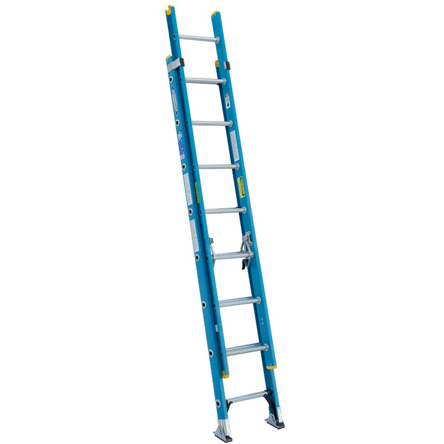 Werner 16-ft Fiberglass 250-lb Type I Extension Ladder