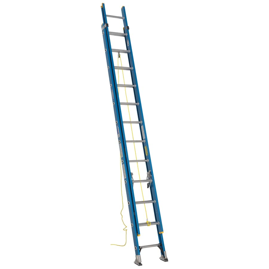 Werner 24-ft Fiberglass 250-lb Type I Extension Ladder